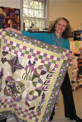 Marianne and her quilt