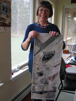 Lynne with Penny's quilt