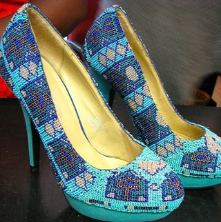 Zulu beaded shoes