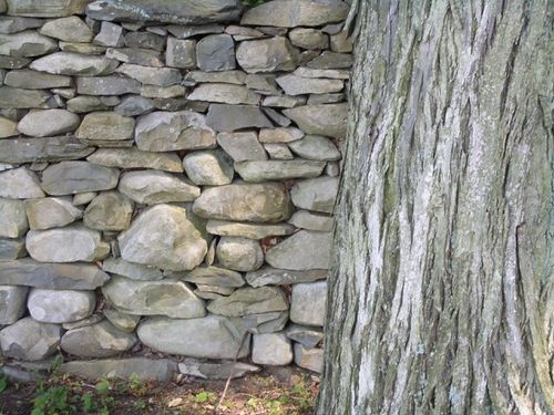 Stone wall, detail of Andy Goldsworthy contrcution, Storm King, New York